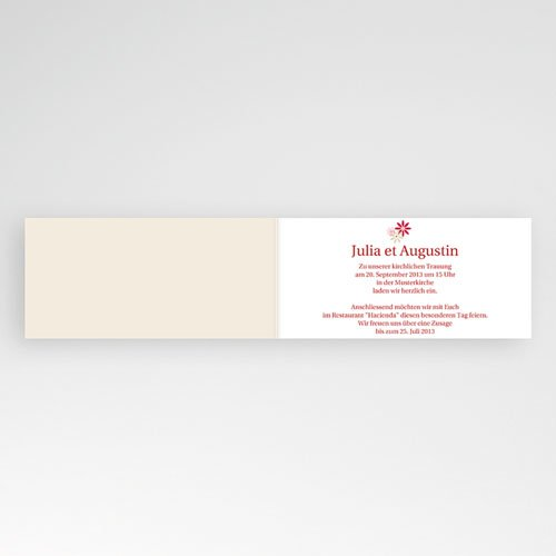 Hochzeitseinladungen modern - Blumen 16073 preview