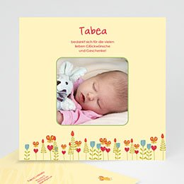 Dankeskarten Geburt Mädchen - Nid d'oiselle - 1