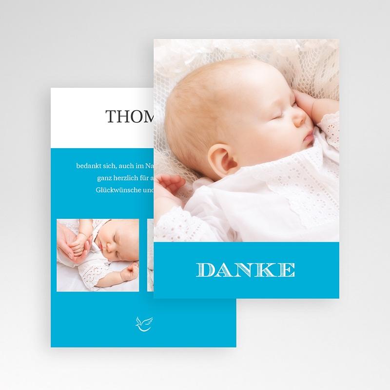 Dankeskarten Taufe Jungen Monogramm pas cher