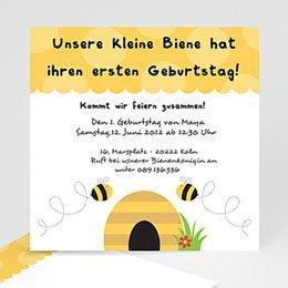 Einlegekarte Kindergeburtstag Bienen
