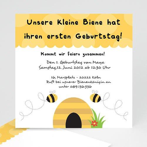 Geburtstagseinladungen Jungen - Bienen 1608