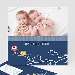 Dankeskarten Geburt Zwillinge Eule