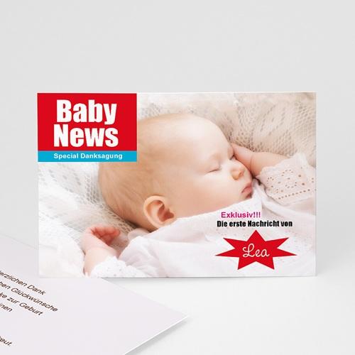 Dankeskarten Geburt Mädchen - Baby News 16098 test