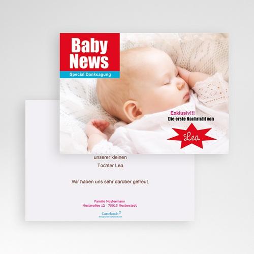 Dankeskarten Geburt Mädchen - Baby News 16099 test