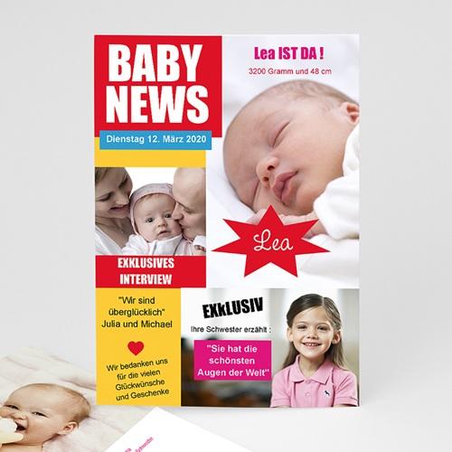 Geburtskarten für Mädchen - Baby News 16100 thumb