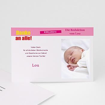 Dankeskarten Geburt Mädchen - Tele Baby - 1