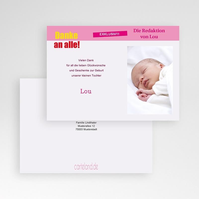 dankeskarten geburt mädchen - tele baby | carteland.de
