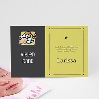 Dankeskarten Geburt Mädchen - Sternzeichen Widder - 1
