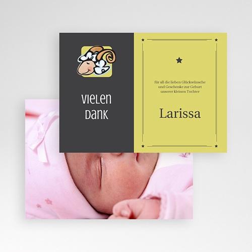 Dankeskarten Geburt Mädchen - Sternzeichen Widder 16107 preview