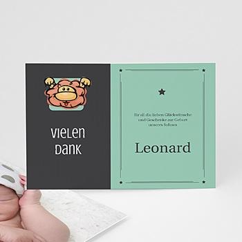 Dankeskarten Geburt Mädchen - Sternzeichen Löwe - 1