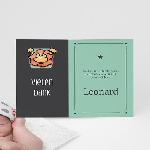 Dankeskarten Geburt Mädchen - Sternzeichen Löwe 16108