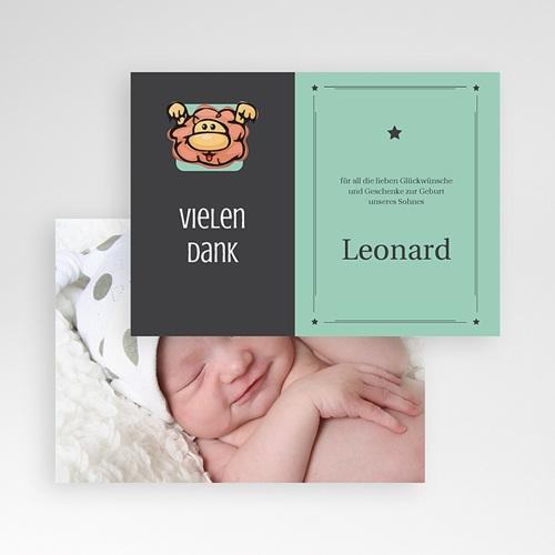 Dankeskarten Geburt Mädchen - Sternzeichen Löwe 16109 test