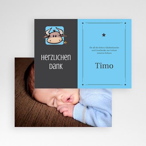 Dankeskarten Geburt Mädchen - Sternzeichen Stier 16111 preview
