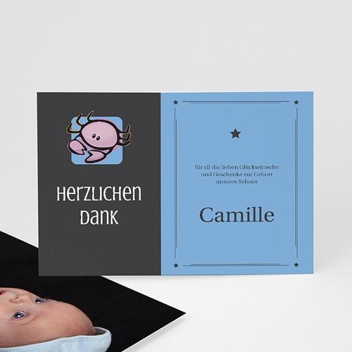 Dankeskarten Geburt Mädchen - Sternzeichen Krebs 16116