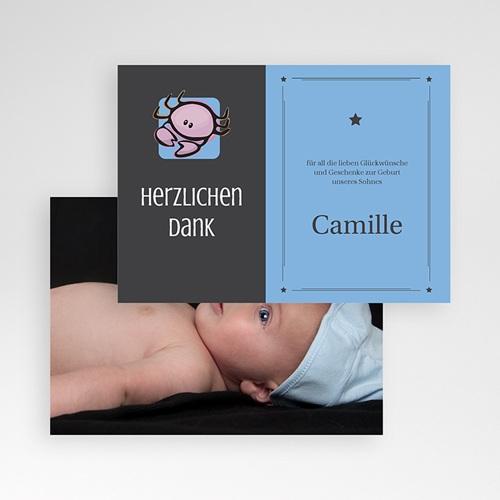 Dankeskarten Geburt Mädchen - Sternzeichen Krebs 16117 test
