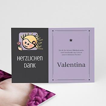 Dankeskarten Geburt Mädchen - Sternzeichen Jungfrau - 1