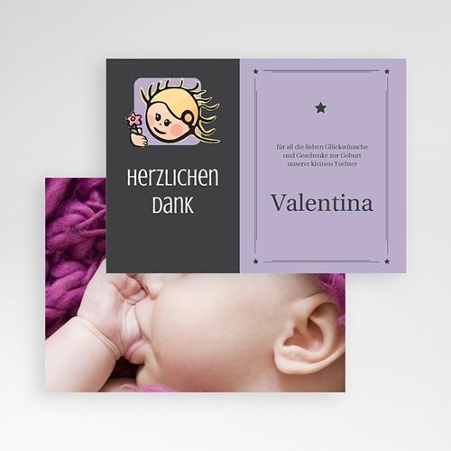Dankeskarten Geburt Mädchen - Sternzeichen Jungfrau 16123 preview