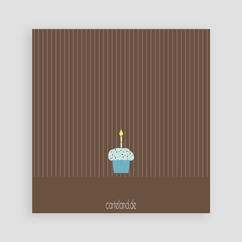 Einladungskarten Geburtstag Jungen Cupcake blau pas cher