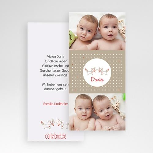 Dankeskarten Geburt für Jungen Füchse pas cher