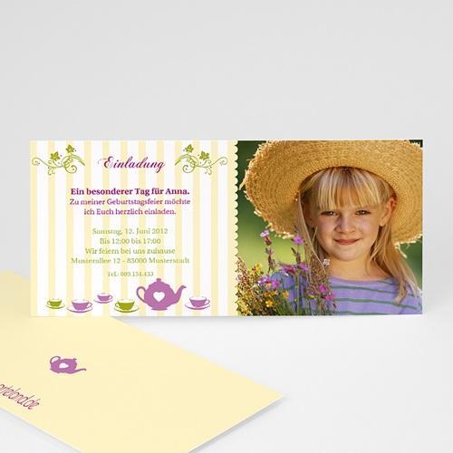 Geburtstagseinladungen Jungen - Kindergeburstageinladung Blumen 1632