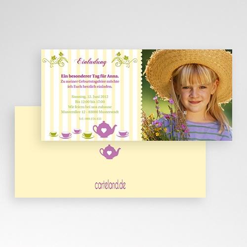 Geburtstagseinladungen Jungen - Blumen 1633 test