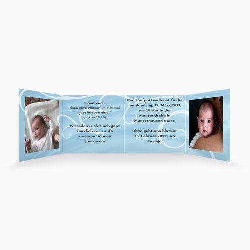 Einladungskarten Taufe Mädchen - In blau 16344 test