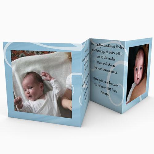 Einladungskarten Taufe Mädchen - In blau 16345 test