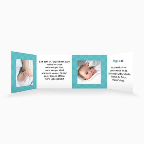Geburtskarten für Mädchen - Karodesign Türkis 16350 preview