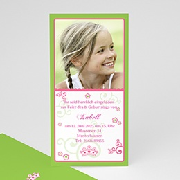 Einlegekarte Kindergeburtstag Frühlingsfarben