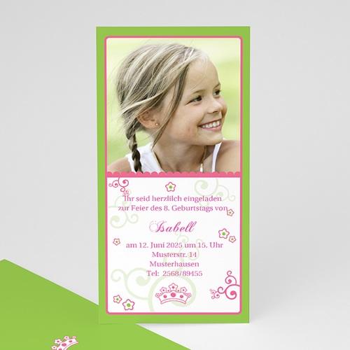Geburtstagseinladungen Mädchen - Frühlingsfarben 1636 thumb