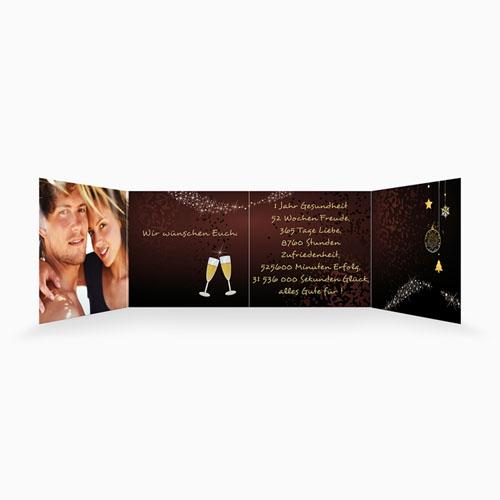 Weihnachtskarten - Gold und Braun 16361 preview