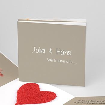 Sie + Sie - Hochzeitskarte individuell personalisierbar - 1
