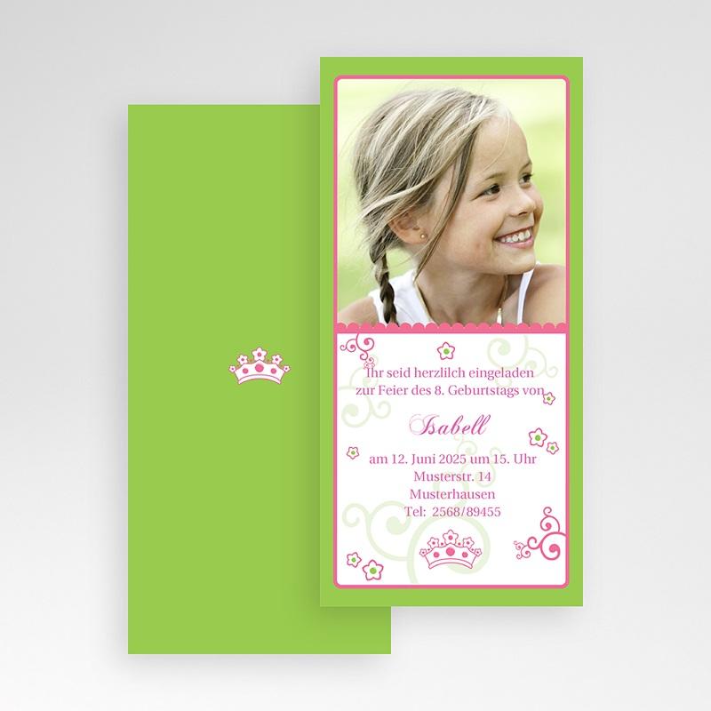 Geburtstagseinladungen Mädchen - Frühlingsfarben 1637 thumb