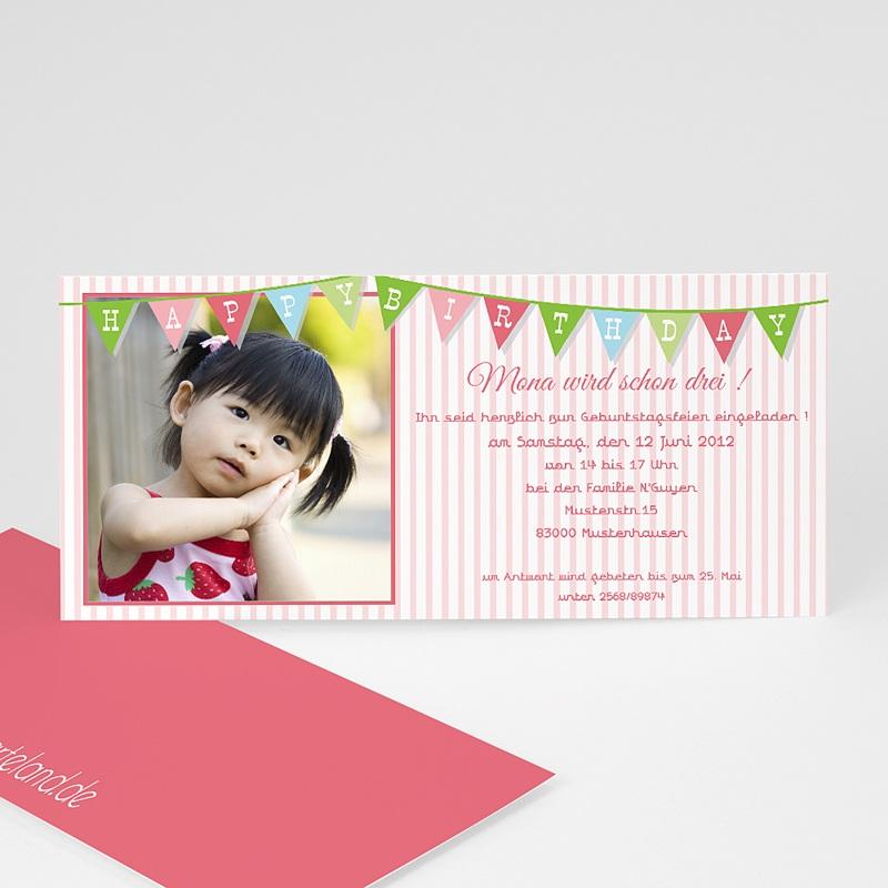 Einladungskarten Geburtstag Mädchen Girlande