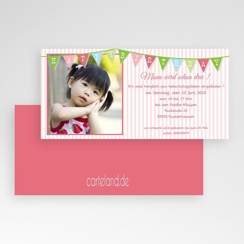 Einladungskarten Geburtstag Mädchen Girlande pas cher