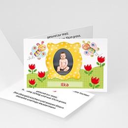 Geburtskarte Schmetterlingsrahmen 1 - 1