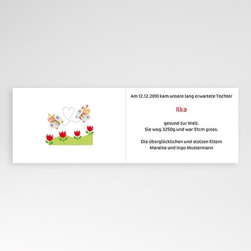 Geburtskarten für Mädchen - Schmetterlinge 16502 preview
