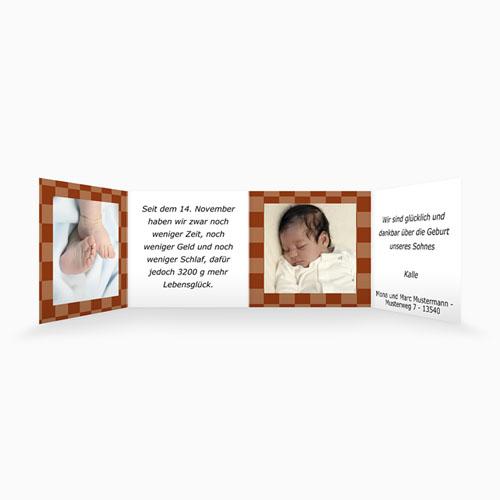 Geburtskarten für Mädchen - Karodesign Braun 16516 preview