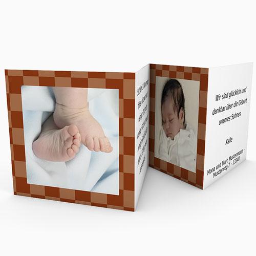 Geburtskarten für Mädchen - Karodesign Braun 16517 preview