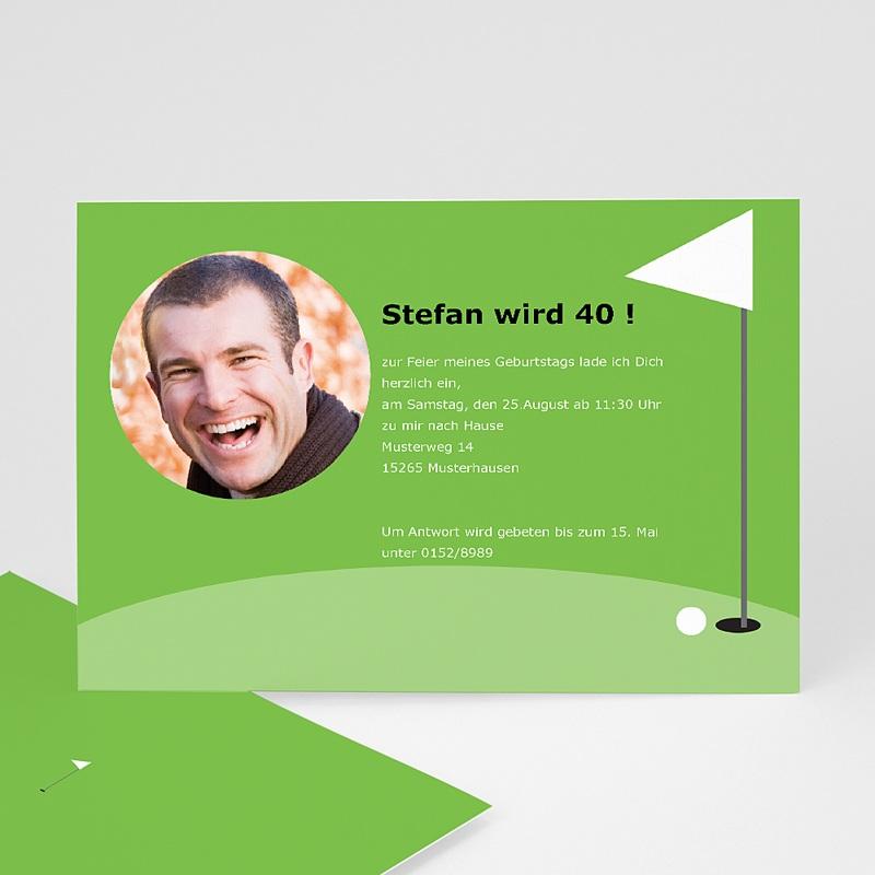 Erwachsener Einladungskarten Geburtstag Golf