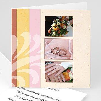 Hochzeitseinladungen modern - Hochzeitskarte Modernes Design - 1