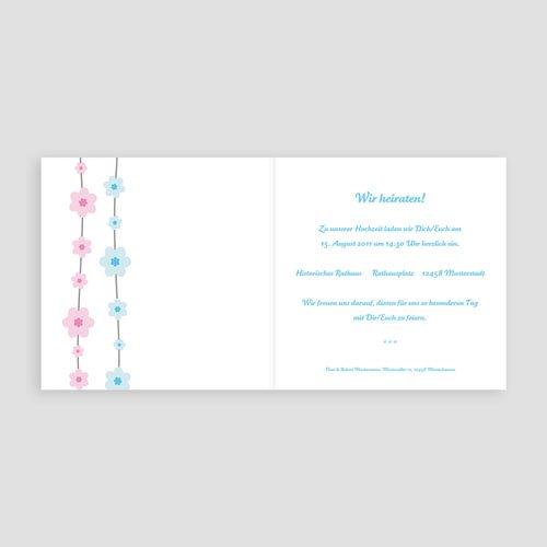 Einladungskarten Hochzeit  - Blumenreihe 16640 test