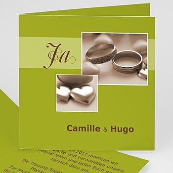 Hochzeitseinladungen Gruen - Hochzeitskarte Auf immer - 1