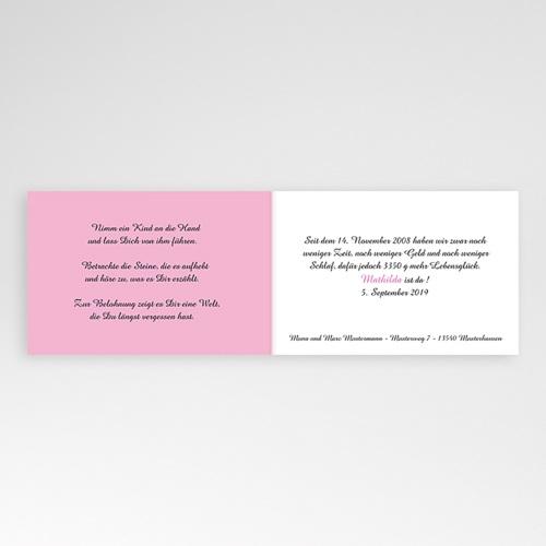 Geburtskarten für Mädchen - Karomuster rosa 16727 test