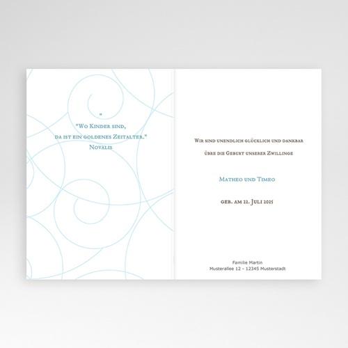 Babykarten für Zwillinge gestalten - Schlicht und klassisch 16756 preview