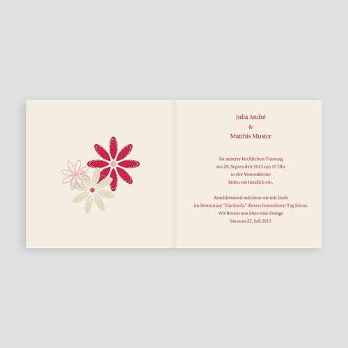 Rot-Weiss Hochzeitseinladungen Blumenfeld pas cher
