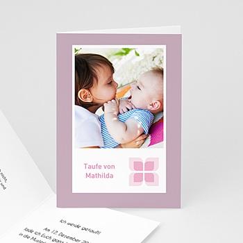 Einladungskarten Taufe Mädchen - Taufkarte Lilah - 1