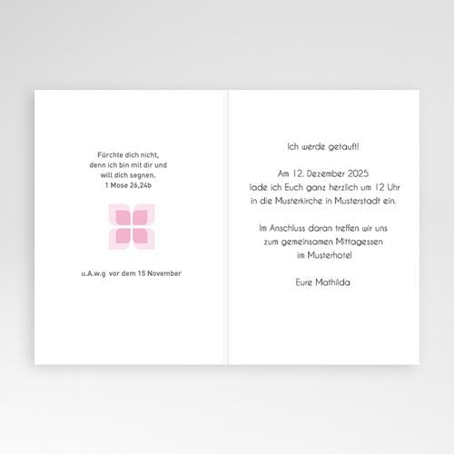 Einladungskarten Taufe Mädchen - Yael 16803 thumb