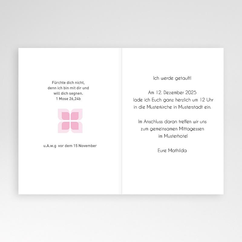Einladungskarten Taufe für Mädchen Yael pas cher
