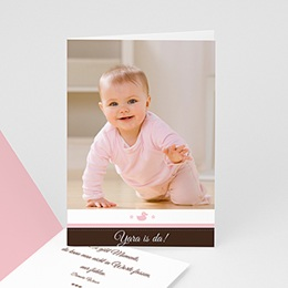 Adoptionskarten für Mädchen - Geburtskarte Mädchen rosa 1 - 1